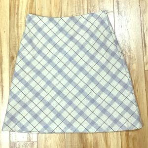 Cute Plaid Wool/Poly Blend Skirt Size 8 Petite